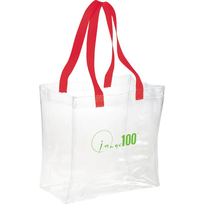 Rally Clear Tote Bags - Red