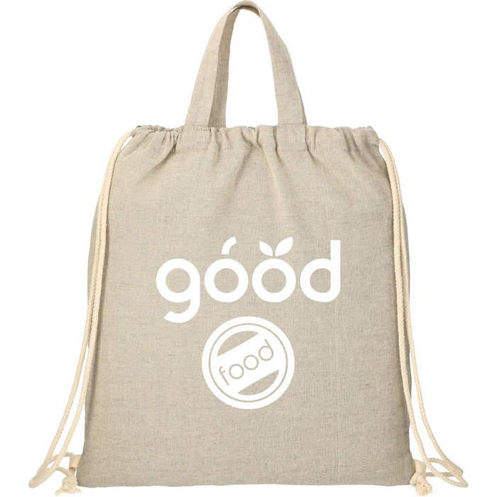 Recycled 4oz Cotton Drawstring Bag - Natural