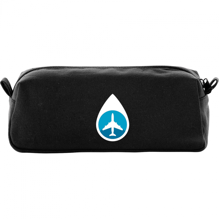 Cotton Canvas Travel Pouch - Black