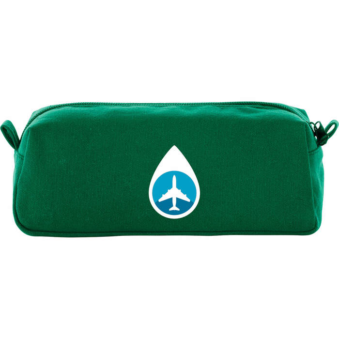 Cotton Canvas Travel Pouch - Green