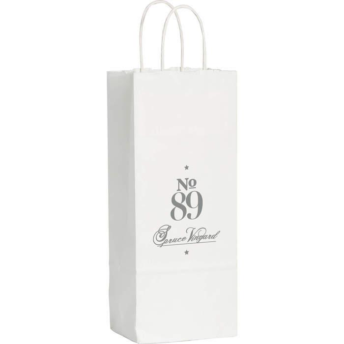 Kraft Paper Wine Bag White