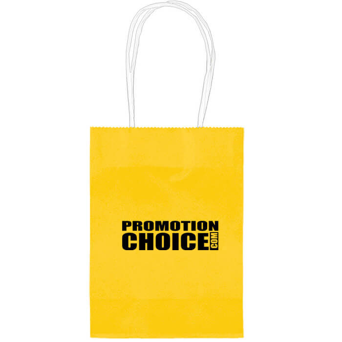 Small Colored Paper Kraft Bags - Yellow