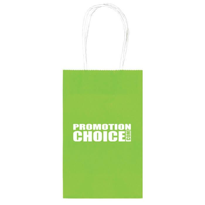 Medium Colored Paper Kraft Bags - Kiwi (368C)