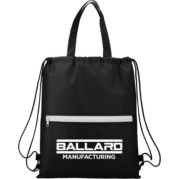 Budget Non-Woven Drawstring Bags - Black