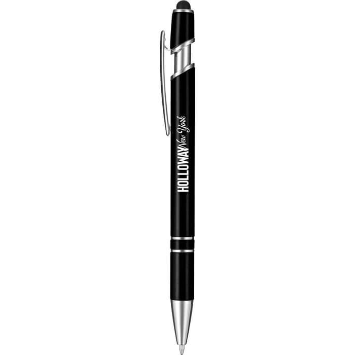 Rainbow Ballpoint Pen-Stylus - Black
