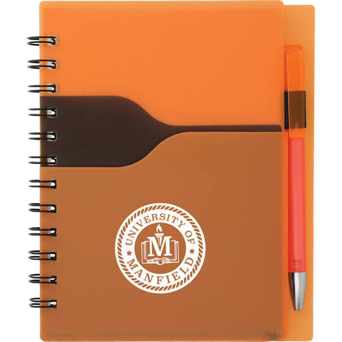 Valley Spiral Notebook With Pen - Orange