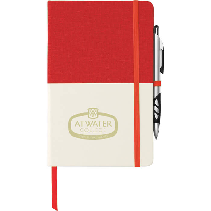 Two Tone Bound Notebook - Red