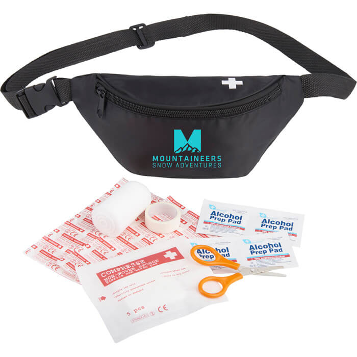 Hipster 18-Piece First Aid Fanny Pack - Black