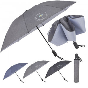 "46"" AOC Heathered Folding Inversion Umbrella"