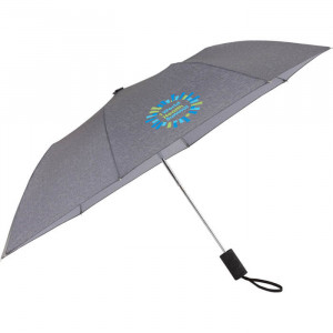 "42"" Auto Open Heathered Windproof Folding Umbrella"
