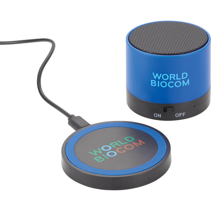 Cosmic Bluetooth Speaker & Wireless Charging Pad - Royal