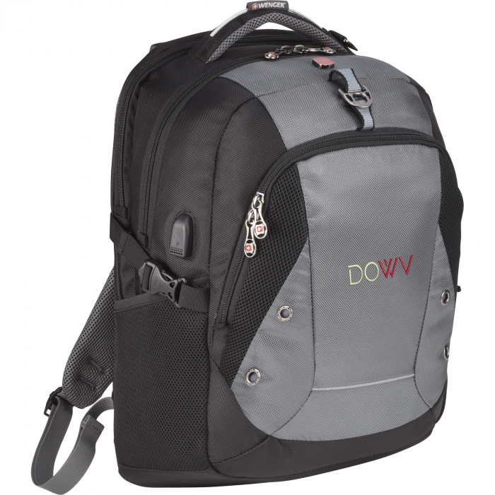 Wenger Outlook 17 Inch Computer Backpack - Charcoal