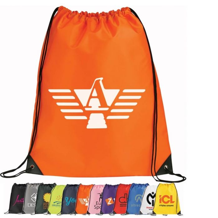 Oriole Large Drawstring Bags