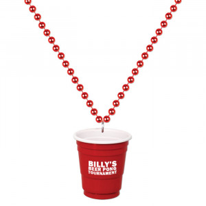 Red Shot Glass On Beads