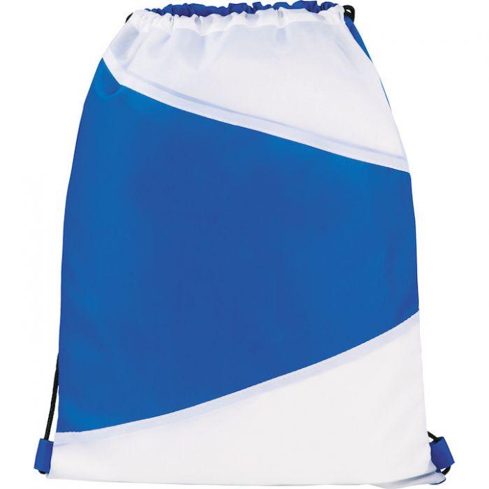Pennant Drawstring Bags - Blue White