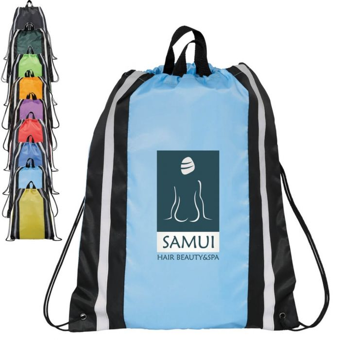 Reflective Large Drawstring Bags