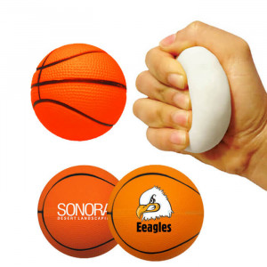 Memory Foam Basketball Stress Relievers