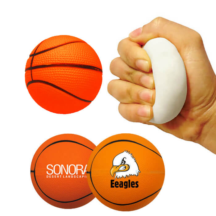 Memory Foam Basketball Stress Relievers