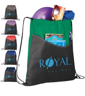 Rivers Pocket Drawstring Bags