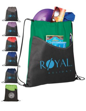 Rivers Pocket Drawstring Bags