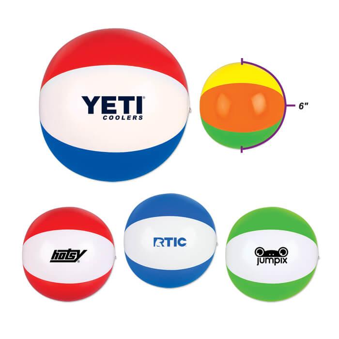 6 inch Two Tone Beachballs
