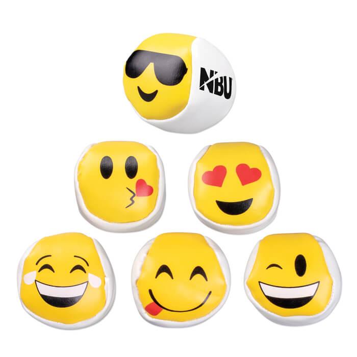 Emoticon Kickbags - White Yellow