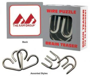 Metal Wire Puzzles with Logo