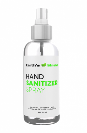 80% 4oz Spray Hand Sanitizer Free Shipping