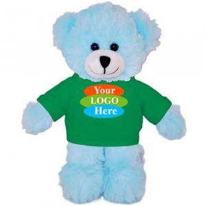 """Blue Teddy Bear in T-shirt 8"""""""