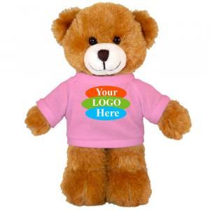 "Mocha Teddy Bear in T-shirt 8"""
