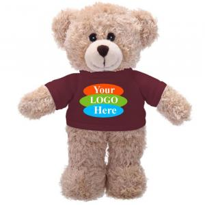 "Tan Bear in T-shirt 8"""