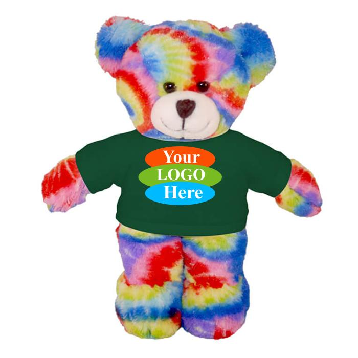 """Tie Dye Bear in T-shirt 12"""""""
