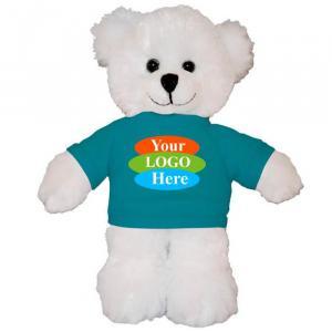 "White Teddy Bear in T-shirt 8"""