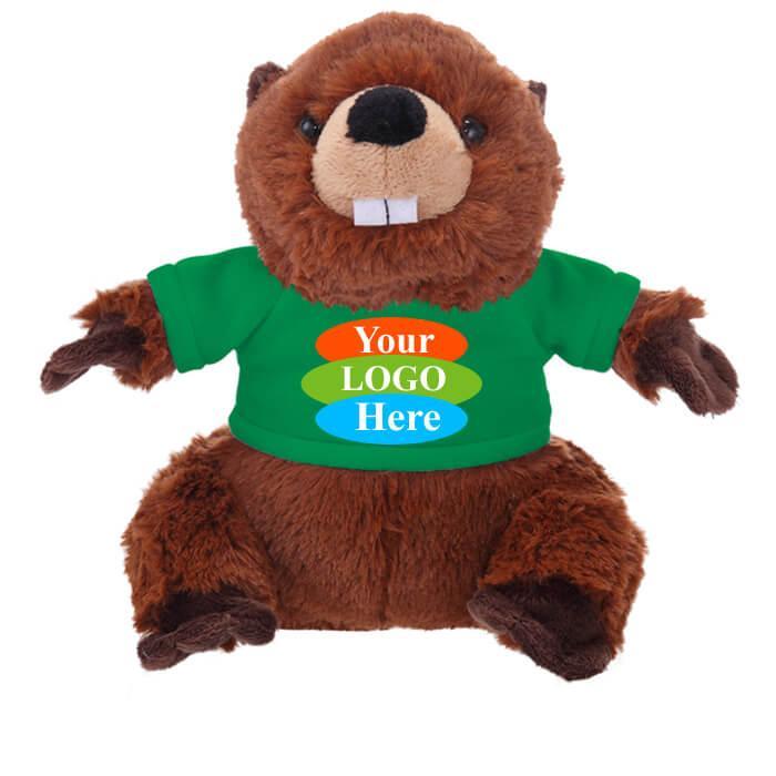 """Beaver in T-shirt 12"""" - Black"""