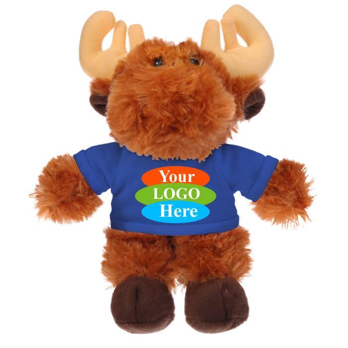 "Moose in T-shirt 12"" - Black"