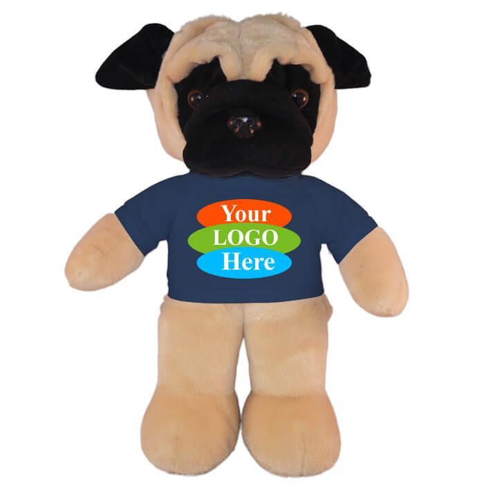 "Pug in T-shirt 8"" - Black"