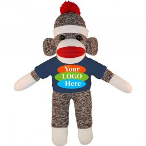 """Sock Monkey in T-shirt 10"""""""