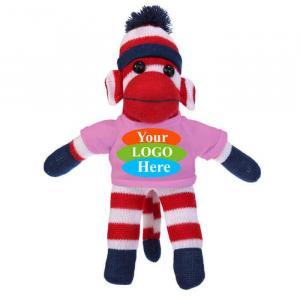 "Patriotic Sock Monkey in T-shirt 10"""