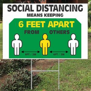 Rectangle Yard Sign 18 X 24