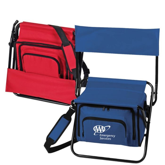 Folding Insulated Cooler Chair Lunch Bags Customized Imprinted
