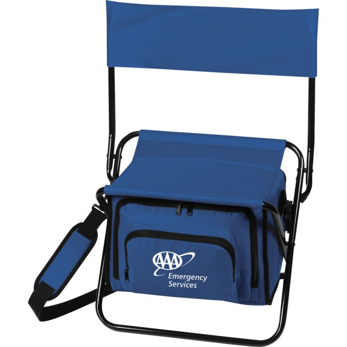 Folding Insulated Cooler Chair Lunch Bags - Blue