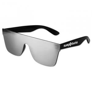 Smoke Mirror Lens No Frame Sunglasses