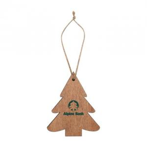 Wood Ornaments Tree