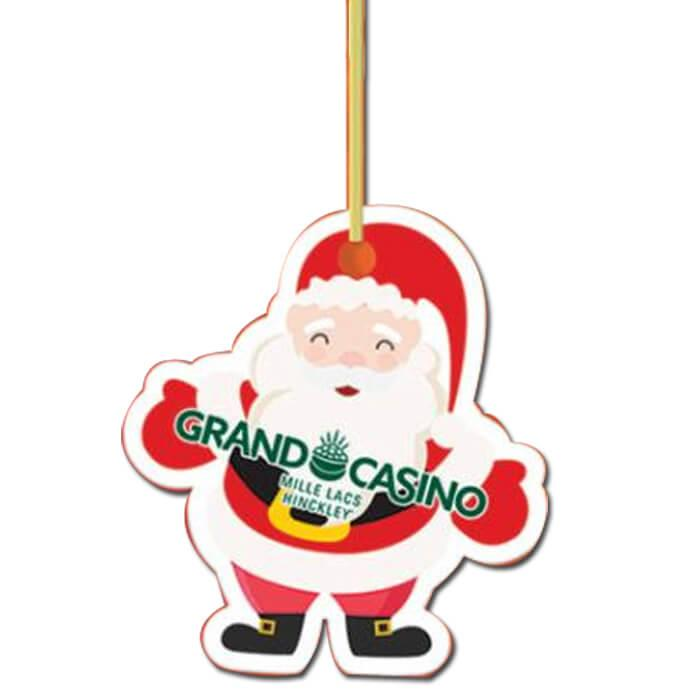 Plastic Ornament Santa