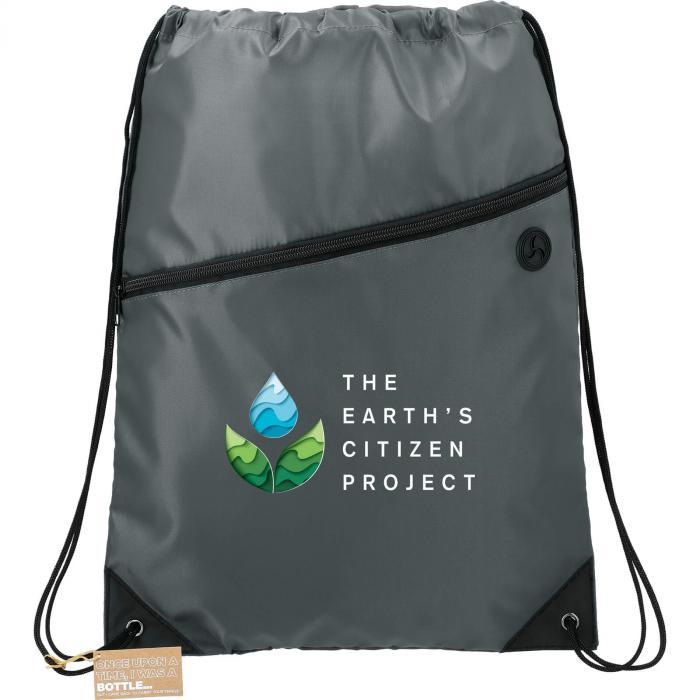 Robin Recycled Drawstring Bag - Gray