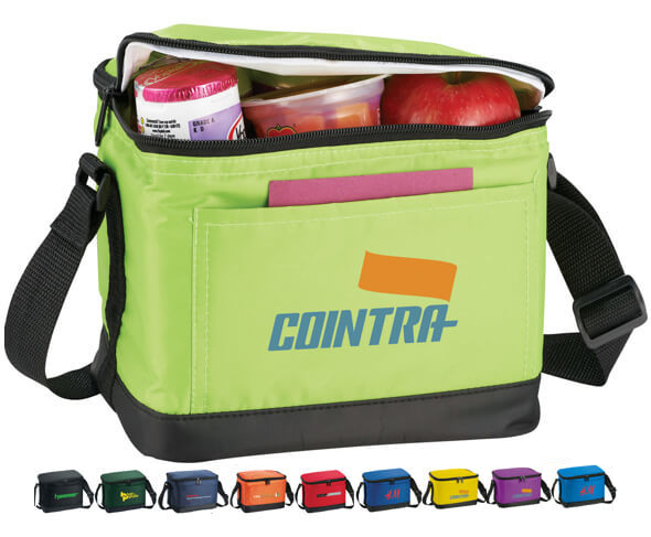 6 Pack Insulated Lunch Bags
