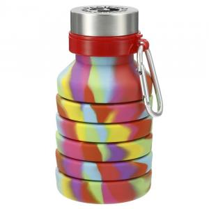 Zigoo Silicone Collapsible Bottle 18oz - Tie Dye