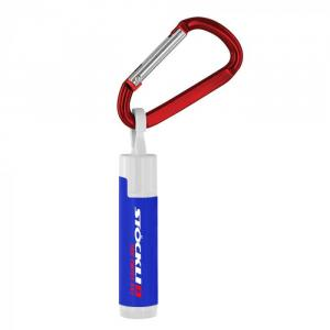SPF 15 Lip Balm in White Tube with Hook Cap and Carabiner