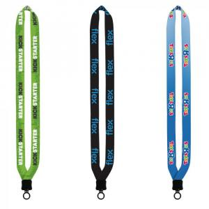 """3/4"""" Dye-Sublimated Lanyard with Plastic Clamshell & Plastic O-Ring"""