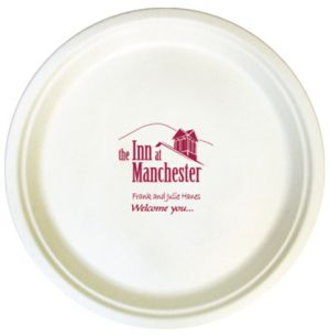 10 Inch White Compostable Paper Plates  sc 1 st  Promotion Choice & Custom Paper Plates Personalized Paper Plates Imprinted With Logo ...